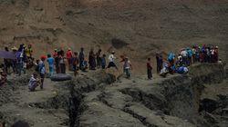 Más de 50 desaparecidos al colapsarse una mina de jade en