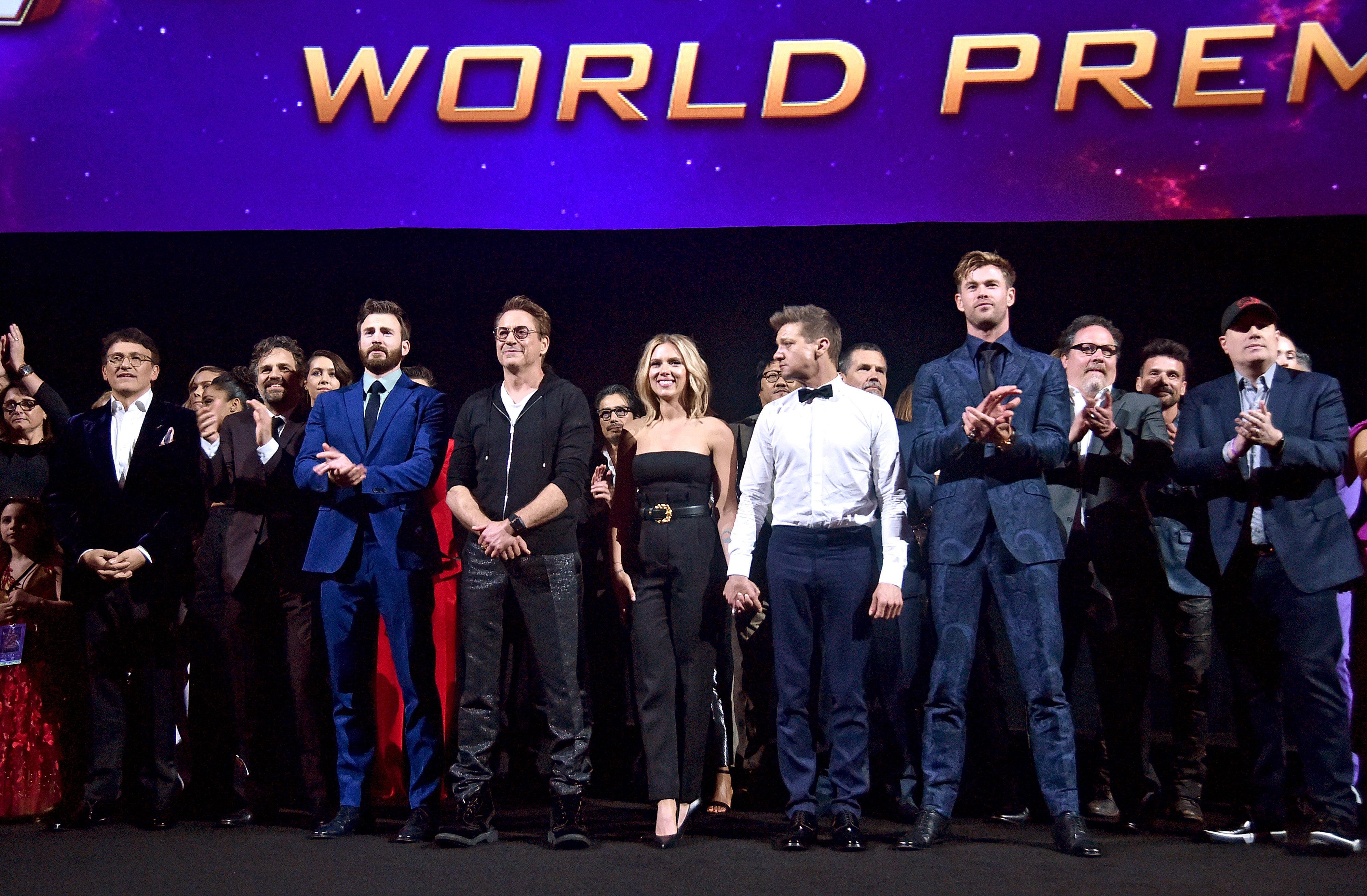 The stars of Avengers: Endgame at the film's LA