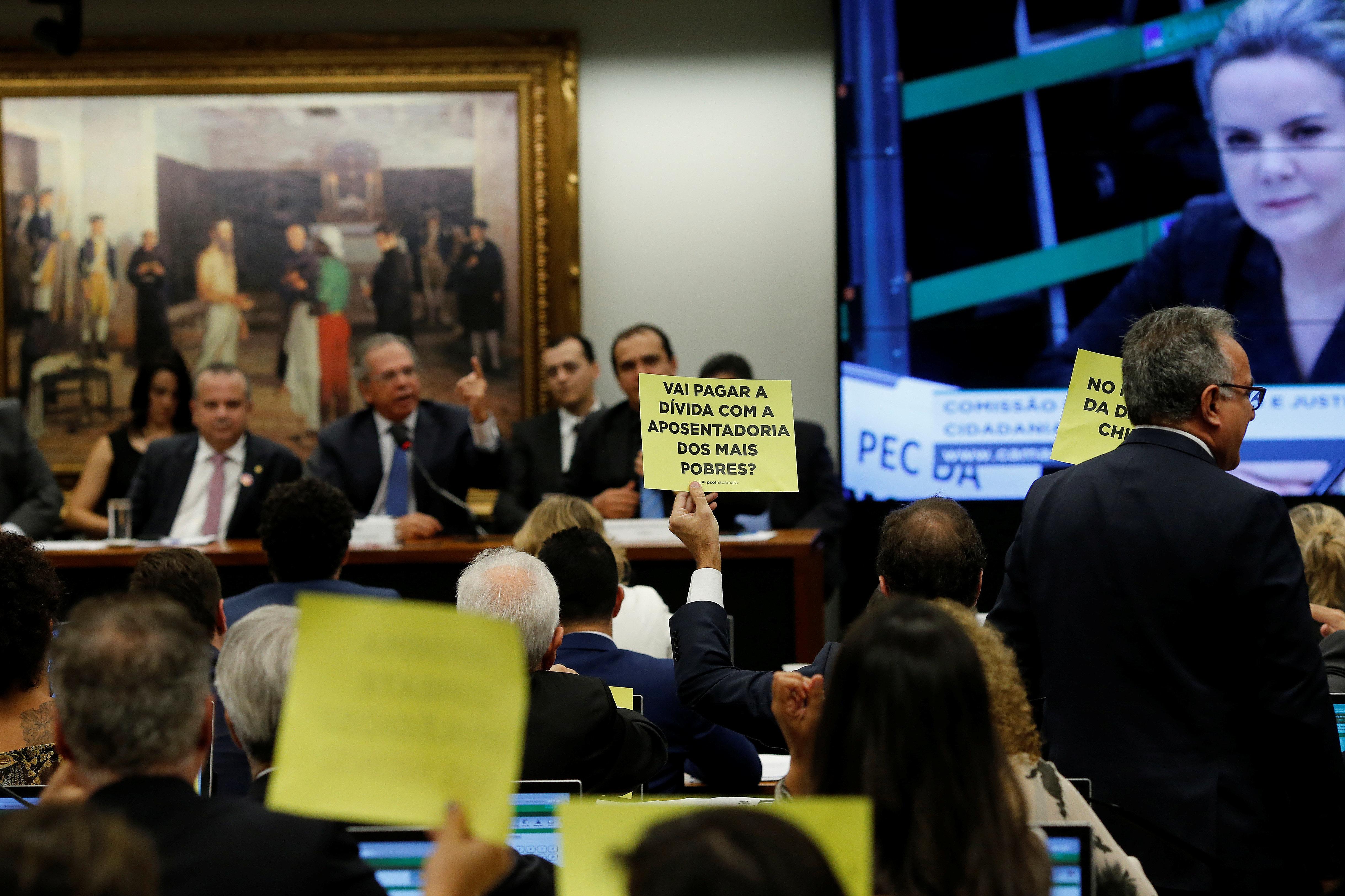 Parlamentares em audiência com o ministro da Economia, Paulo
