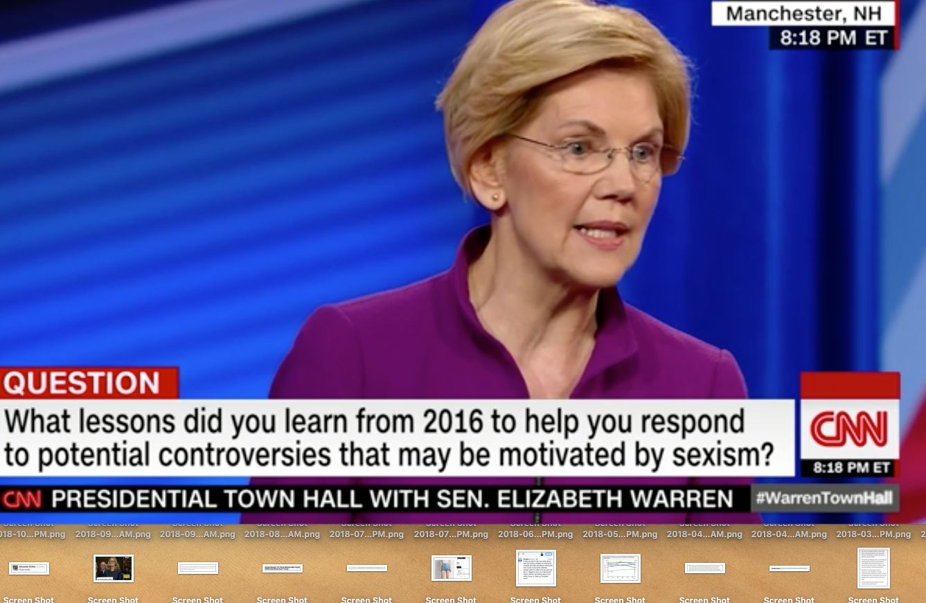 Warren answers question about sexism
