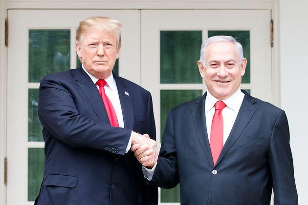 Donald Trump y Benjamin Netanyahu, el pasado 25 de marzo en la Casa