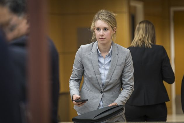 Elizabeth Holmes' Exposed Neck Makes A Rare Appearance In