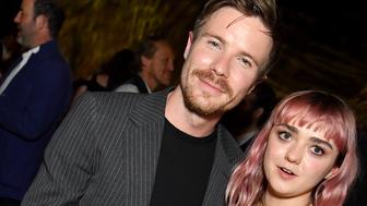 BELFAST, NORTHERN IRELAND - APRIL 12: Joe Dempsie and Maisie Williams at the 'Game of Thrones' season finale premiere at the Waterfront Hall on April 12, 2019 in Belfast, Northern Ireland.  (Photo by Jeff Kravitz/FilmMagic for HBO)
