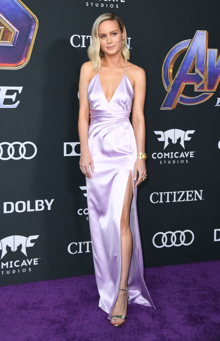 "Brie Larson at the premiere of ""Avengers: Endgame"" on April 22."