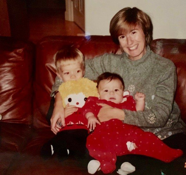 The author and her children.