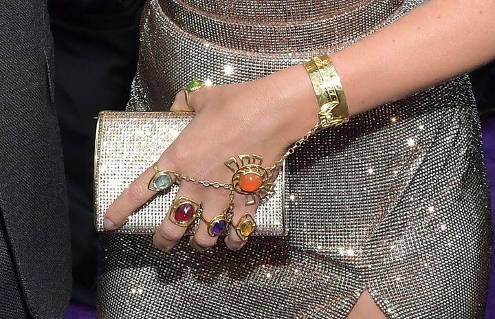 Johansson's jewelry.