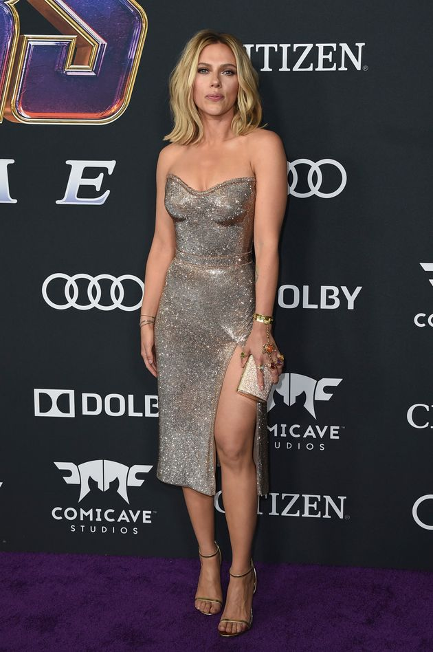 Scarlett Johansson arrives in sparkles at the premiere of