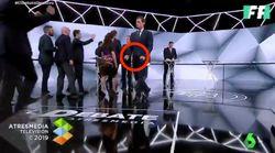 El excitado gesto de Albert Rivera tras terminar el debate de