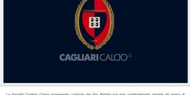Cagliari-Roma: finisce 0-3 a tavolino Cellino contro Baldini
