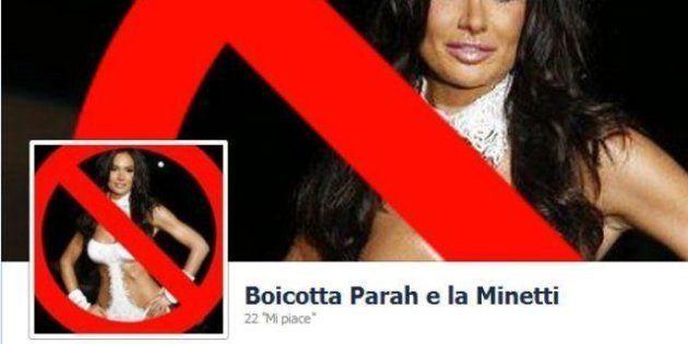 Nicole Minetti in passerella: le donne di Facebook e Twitter boicottano Parah