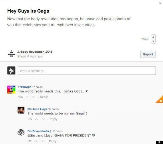 Lady Gaga lancia la body revolution contro bulimia e anoressia: