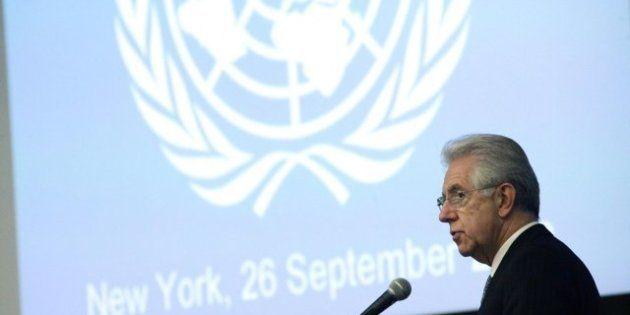 Monti all'Onu: crisi peggiore nella storia dell'UE, tutti devono fare il loro