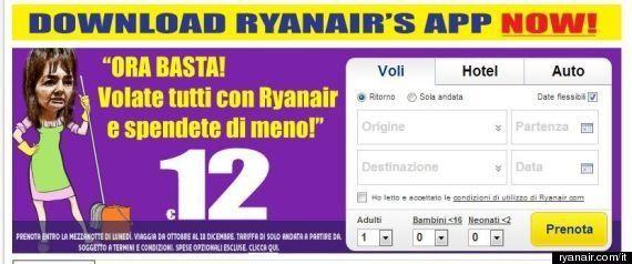 Ryanair prende in giro Renata Polverini: