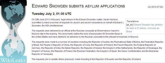 Datagate: Edward Snowden chiede asilo a 21 paesi, tra cui l'Italia. Russia: