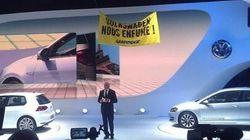 Greenpeace contro Volkswagen  Al Salone dell'Auto lo show degli attivisti