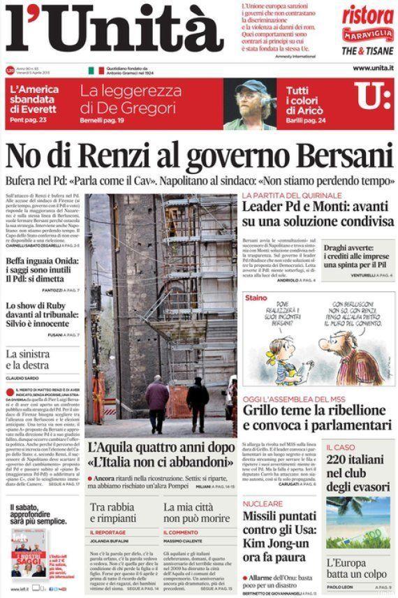 Unità, il renziano Matteo Richetti chiede le dimissioni del direttore Claudio