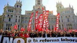 A Madrid la Polizia transenna il