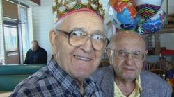 Joseph Katz e Al Spiegal, migliori amici da 91 anni, festeggiano insieme il loro