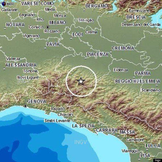 Terremoto in Emilia avvertito a Parma, Milano, Piacenza, Genova. Ore 16.45 magnitudo 4.5