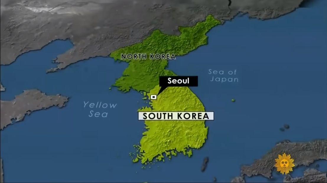 미국 CBS 방탄소년단 인터뷰 영상에서 '일본해' 표기가