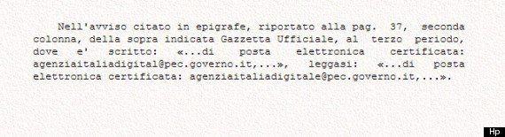 Errore nel bando per l'agenzia digitale, arriva la correzione in Gazzetta Ufficiale dopo la denuncia...