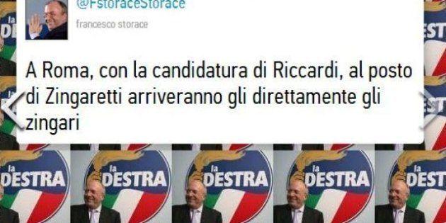 Nicola Zingaretti si candida alla Regione Lazio. Francesco Storace polemizza su Twitter: