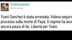 #FreeYoani: reazioni su twitter. Saviano: