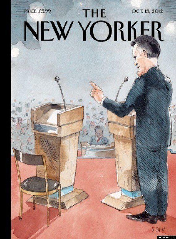 Il New Yorker prende in giro Obama: nella copertina il presidente diventa una sedia vuota