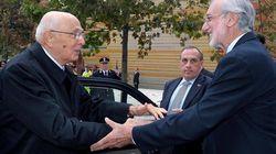 Giorgio Napolitano a L'Aquila contro le new town di Silvio