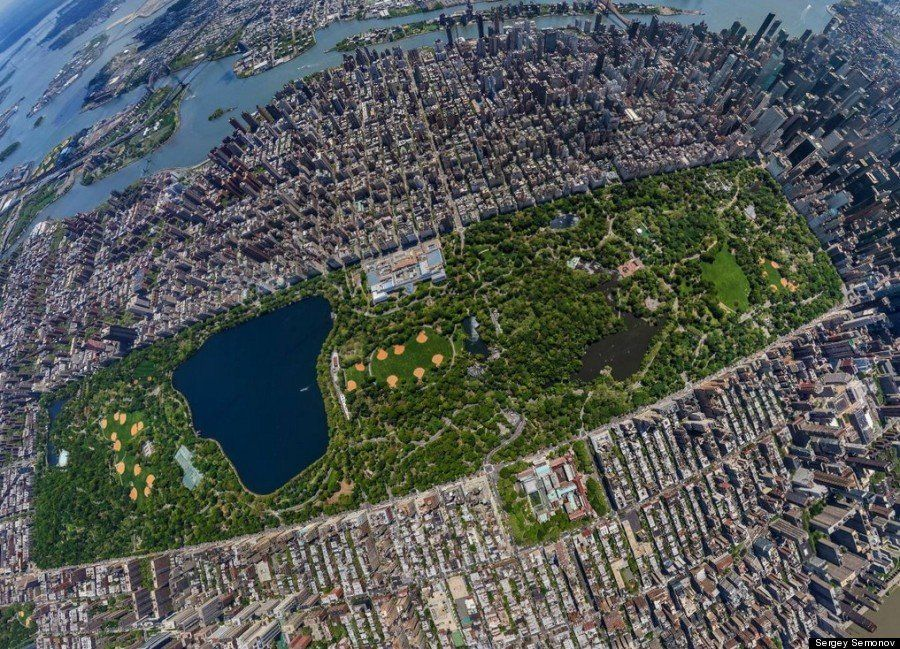New York: Central Park visto dal cielo è in 3D