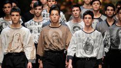 D&G, carpentieri in passerella e Santi e Madonne sulle magliette