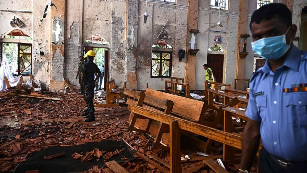 ISIS claims responsibility for Sri Lanka Easter bombings that killed over 350 (ABC News)