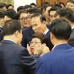 자유한국당 임이자 의원이 국회의장에게 '성적 수치심을 느꼈다'며