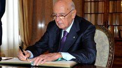 Legge elettorale, Napolitano: no a coalizioni che non garantiscano la stabilità del