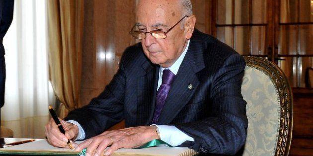 Legge elettorale, Napolitano a Schifani: bene il superamento dello stallo, no a coalizioni che non possano...