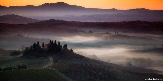 Adnan Bubalo immortala l'alba in Toscana. Le foto della Val d'Orcia