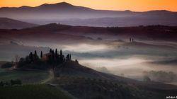 I mille colori dell'alba in Toscana