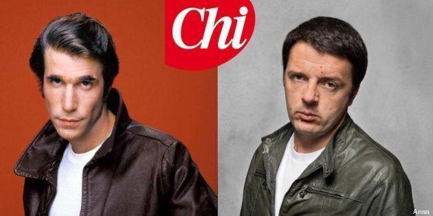 Matteo Renzi su Chi vestito come Fonzie: