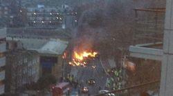 Un elicottero si schianta nel centro di Londra (FOTO,