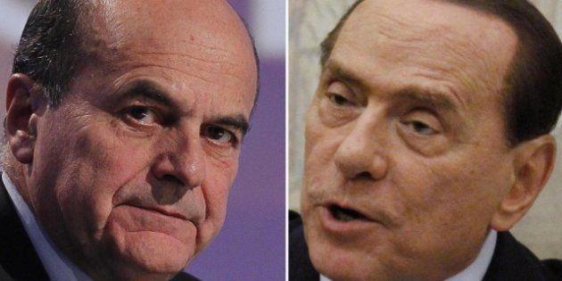 Sondaggio: per Swg al 45 per cento degli italiani piace l'ipotesi di un accordo Pier Luigi Bersani-Silvio
