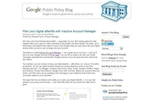 Google lancia il servizio per la gestione dei dati dopo la morte. E anche sui social si può