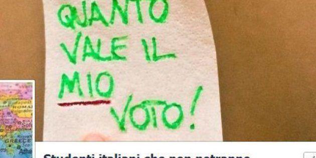 Elezioni 2013, la protesta degli studenti italiani in Erasmus: