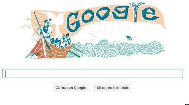 Google, il doodle del 18 ottobre è dedicato a Moby Dick. Si festeggiano i 161 anni del libro di Herman...