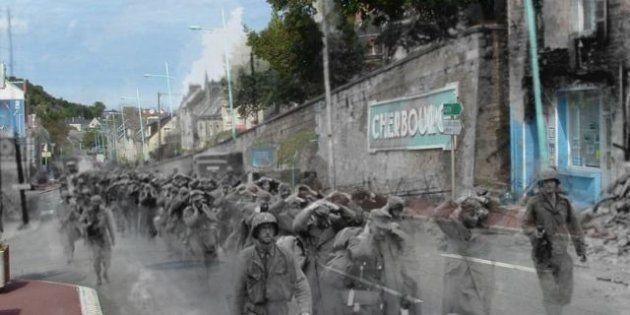 Le fotografie della seconda guerra mondiale rivivono sulle strade di oggi