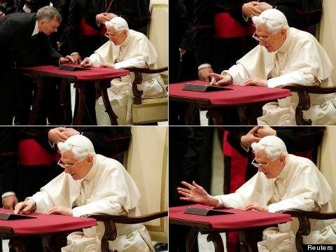 Il primo Tweet dil Papa Ratzinger: Benedetto XVI posta sul social network (TWEET, FOTO,
