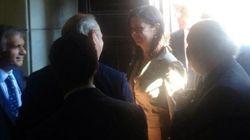 Laura Boldrini visita a Regina Coeli. La foto su Twitter