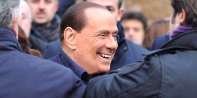 Silvio Berlusconi alla presentazione del libro di Bruno Vespa: