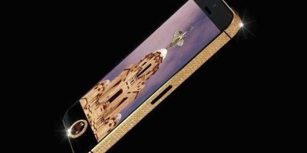 650 piccoli diamanti, rivestimento in oro 24 carati e schermo in zaffiro: costa 12 milioni di euro l'iPhone...