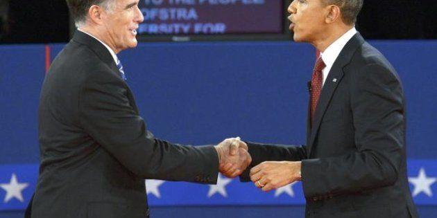 Elezioni americane: stasera l'ultimo dibattito. Nei sondaggi è parità tra Barack Obama e Mitt Romney...