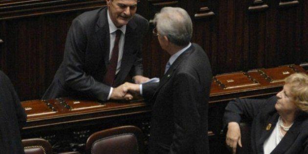 Quirinale, Mario Monti incontra Pier Luigi Bersani l'obiettivo è trovare un nome condiviso anche con...